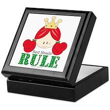 Red Heads Rule Keepsake Box