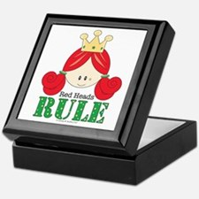 Red Heads Rule Keepsake Box
