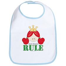 Red Heads Rule Bib