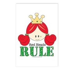 Red Heads Rule Postcards (Package of 8)