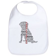 4 Paws Black Red Bib