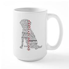 4 Paws Black Red Mug