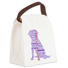 4 Paws Blue Red Canvas Lunch Bag