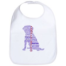 4 Paws Blue Red Bib