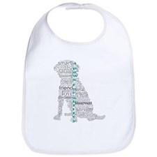 4 Paws Gray Teal Bib