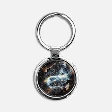 NGC 5189 planetary nebula Round Keychain