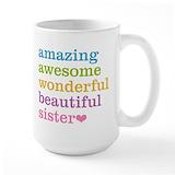 Big sister Large Mugs (15 oz)