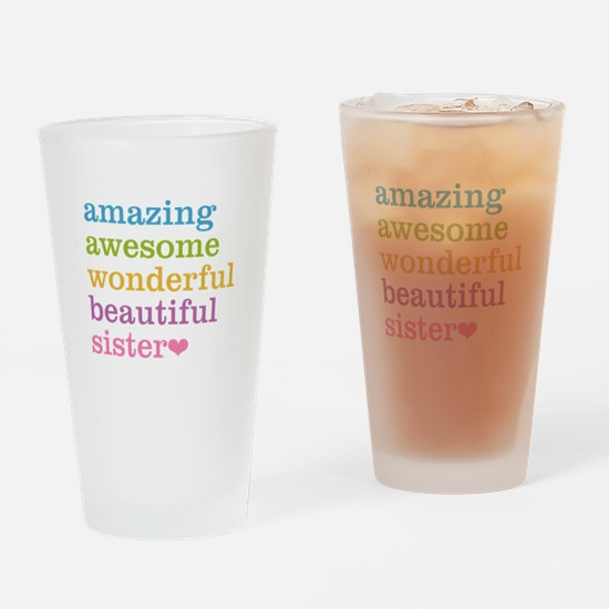 Amazing Sister Drinking Glass