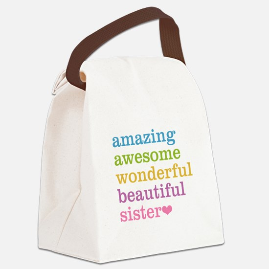 Amazing Sister Canvas Lunch Bag