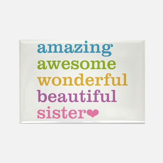 Amazing Sister Rectangle Magnet