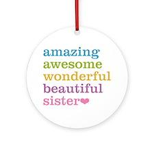 Amazing Sister Ornament (Round)