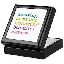 Amazing Sister Keepsake Box