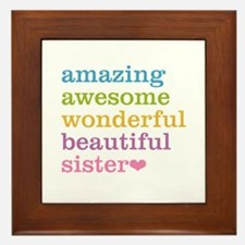 Amazing Sister Framed Tile