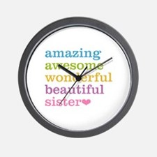 Amazing Sister Wall Clock