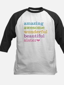 Amazing Awesome Sister Baseball Jersey