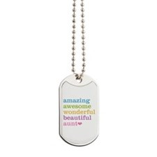 Amazing Aunt Dog Tags