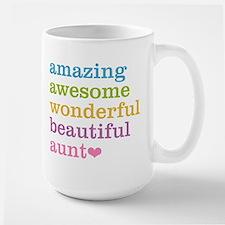 Amazing Aunt Large Mug