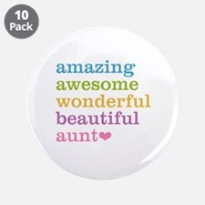 "Amazing Aunt 3.5"" Button (10 pack)"