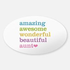 Amazing Aunt Sticker (Oval)