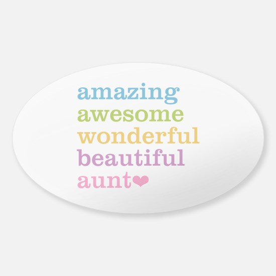 Amazing Aunt Sticker (Oval)