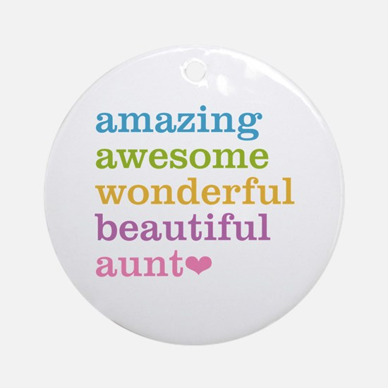 Amazing Aunt Ornament (Round)