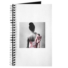 Black and White Dancer in Pastel Pink Journal