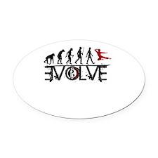 EVOLVE Oval Car Magnet