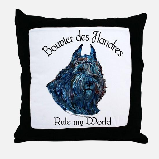 Bouvier des Flandres Rule Throw Pillow