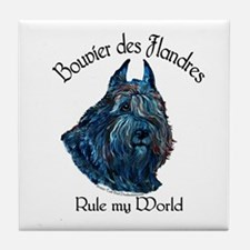 Bouvier des Flandres Rule Tile Coaster