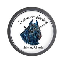 Bouvier des Flandres Rule Wall Clock