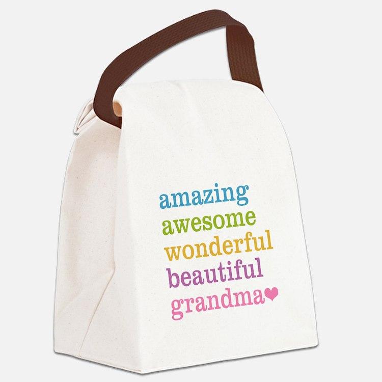 Amazing Grandma Canvas Lunch Bag