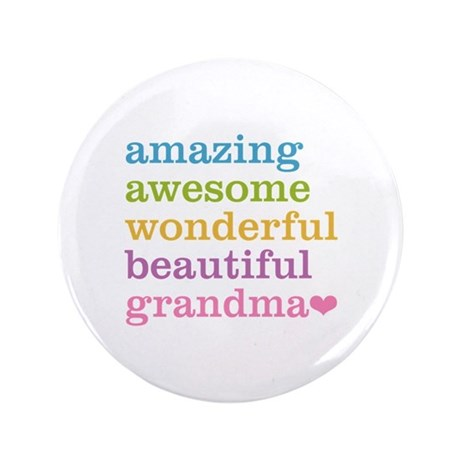 "Amazing Grandma 3.5"" Button"