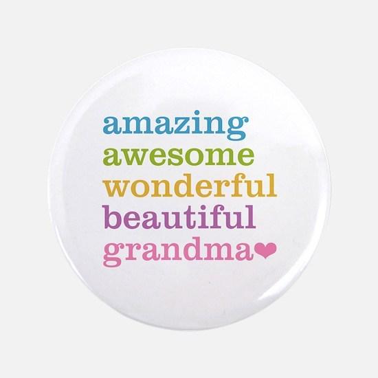 """Amazing Grandma 3.5"""" Button"""