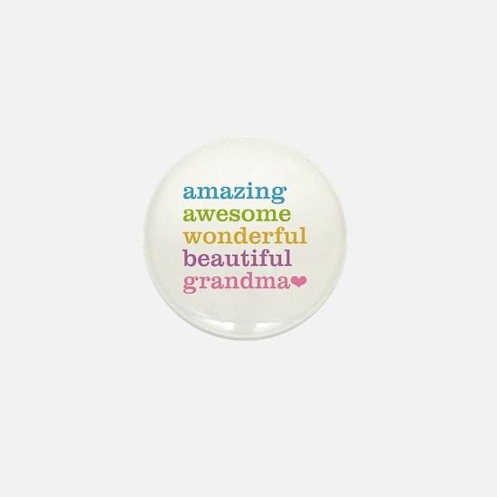 Amazing Grandma Mini Button