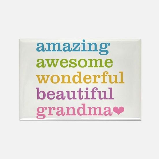 Amazing Grandma Rectangle Magnet