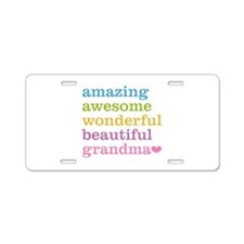 Amazing Grandma Aluminum License Plate