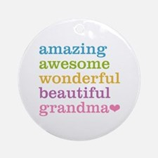 Amazing Grandma Ornament (Round)