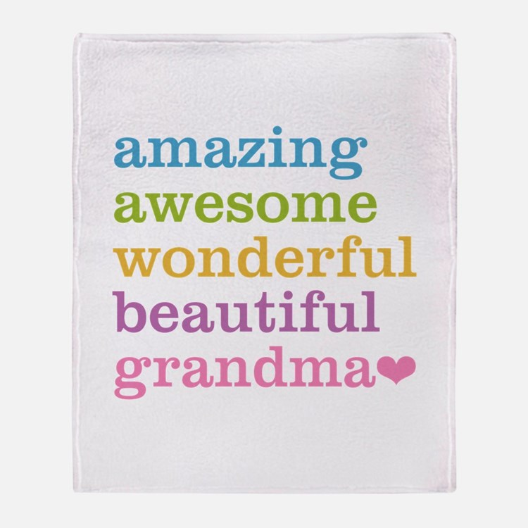 Amazing Grandma Throw Blanket