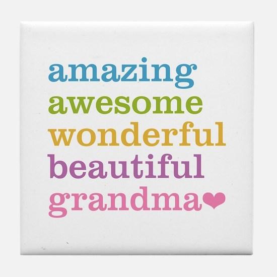 Amazing Grandma Tile Coaster