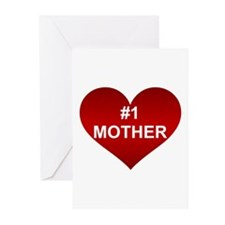 #1 MOTHER Greeting Cards (Pk of 10)