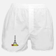 Eiffel Tower on Pencil Boxer Shorts