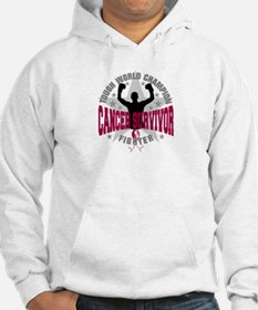 Throat Cancer Tough Hoodie