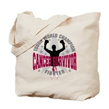 Throat Cancer Tough Tote Bag