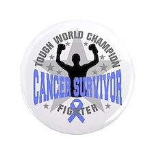 """Stomach Cancer Tough 3.5"""" Button"""