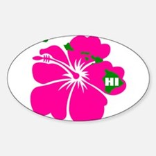 Hawaii Islands & Hibiscu Decal