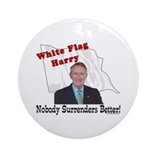 White Flag Harry Reid Ornament (Round)