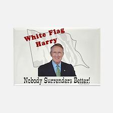 White Flag Harry Reid Rectangle Magnet