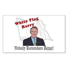 White Flag Harry Reid Rectangle Decal
