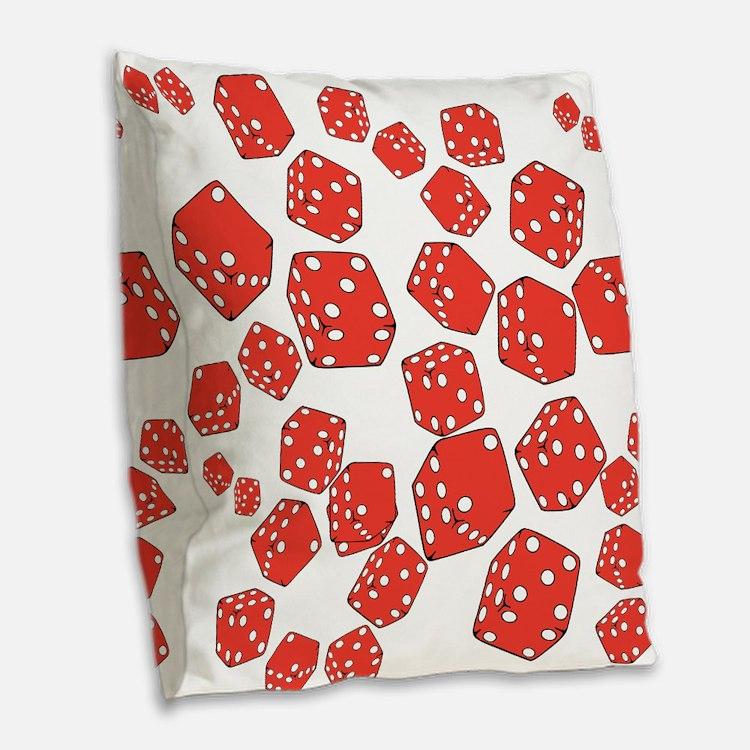 Roll the dice Burlap Throw Pillow