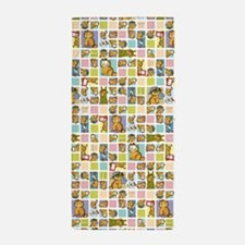 Classic Garfield Squares Beach Towel
